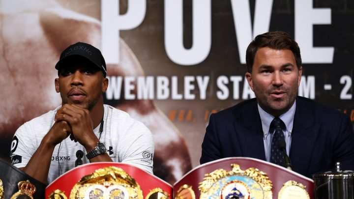 Hearn: If Wilder wants to fight for legacy, he has to fight Joshua