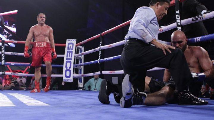 Kubrat Pulev overcomes nasty cut, breaks Bogdan Dinu's will for 7th round KO win