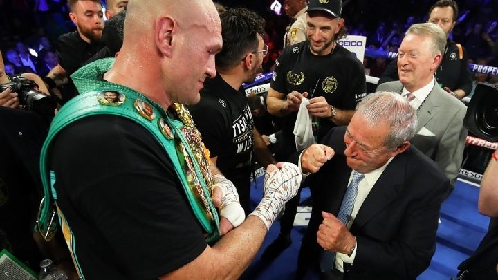 Arum on Fury-Joshua: Hearn Will Send First Draft of Contract on Tuesday